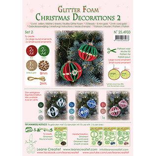 Leane Creatief - Lea'bilities und By Lene Kerstbal, glitter foam decoratie, keuze uit set 1, 2, 3 of 4