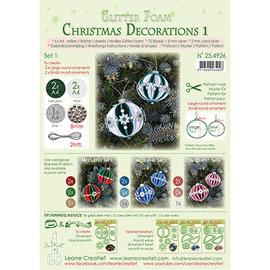 Leane Creatief - Lea'bilities und By Lene Boule de Noël, décoration en mousse scintillante, choix entre les sets 1, 2, 3 ou 4