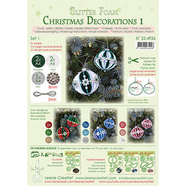 Leane Creatief - Lea'bilities und By Lene Christmas ball, glitter foam decoration, choice from set 1, 2, 3 or 4