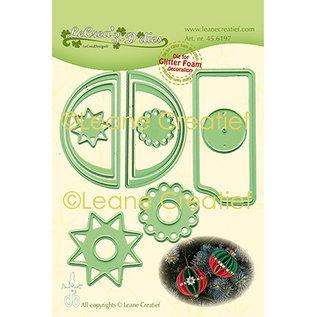 Leane Creatief - Lea'bilities und By Lene Cutting stencils, design 3D decorative Christmas balls