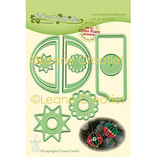 Leane Creatief - Lea'bilities und By Lene Skære stencils, design 3D dekorative julekugler