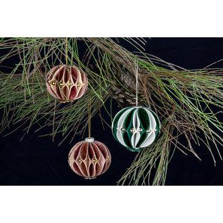 Leane Creatief - Lea'bilities und By Lene Skjæring av sjablonger, design 3D dekorative julekuler