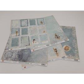 Karten und Scrapbooking Papier, Papier blöcke Paper, frozen paper, 30.5 x 30.5 cm, design to choose
