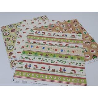 "Karten und Scrapbooking Papier, Papier blöcke Papier, Premium, "" Glückpilze"" Auswahl aus diverse Designs"
