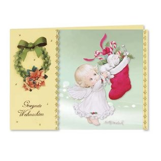 Cards, handicraft set, Moreheads for 8 Christmas greeting cards with transparent paper