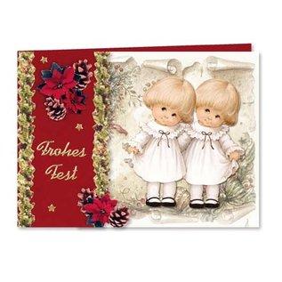 Tarjetas, set de manualidades, Moreheads para 8 tarjetas navideñas con papel transparente