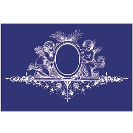 Schablonen, für verschiedene Techniken / Templates Mal, tekstildesign, DIN A5, engel med ornament,