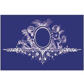 Schablonen, für verschiedene Techniken / Templates Plantilla, diseño textil, DIN A5, ángel con adorno,