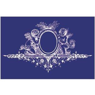 Schablonen, für verschiedene Techniken / Templates Sjabloon, textielontwerp, DIN A5, engel met ornament,