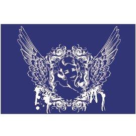 Schablonen, für verschiedene Techniken / Templates Schablone, Textilgestaltung, DIN A5, Engel mit Flügel