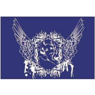 Schablonen, für verschiedene Techniken / Templates Sjabloon, textielontwerp, DIN A5, engel met vleugels