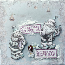 LaBlanche Stamp, Santa Claus with gift or Santa Claus with fir tree