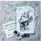 LaBlanche Stempel, kerstman met cadeau of kerstman met dennenboom