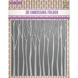 3D Embossing Folder, 150x150mm, Baumen