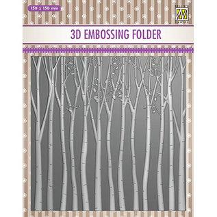 3D embossing folder, 150x150mm, bomen
