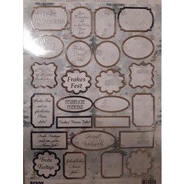 Embellishments / Verzierungen láminas troqueladas con etiquetas