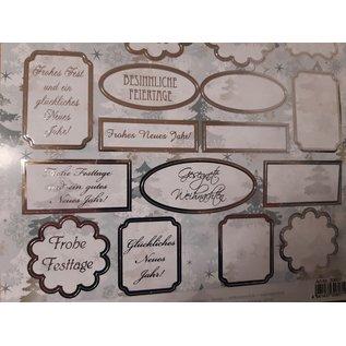 Embellishments / Verzierungen Die cut sheets with labels