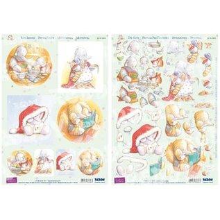 Reddy, 3D punched sheet set, Humphrey`s Corner, Christmas