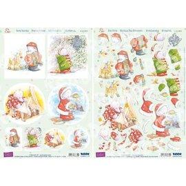 3D Stanzbogenset, Reddy, 3D Stanzbogenset, Humphrey`s Corner, Weihnachten
