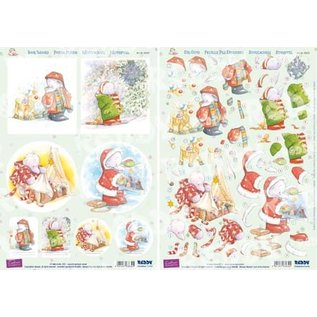 Reddy 3D punched sheet set, Reddy, 3D punched sheet set, Humphrey`s Corner, Christmas