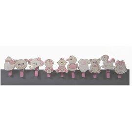 Embellishments / Verzierungen Babybøyler, 10 forskjellige motiver, i valg babyrosa eller babyblå