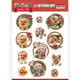 AMY DESIGN A4 sheet, 3D pushout, Christmas dogs
