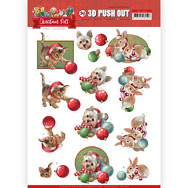 AMY DESIGN A4-vel, 3D-pushout, kerstdieren