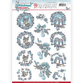 JEANINES ART  A4 sheet, 3D pushout, Christmas