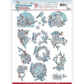 Yvonne Creations Foglio A4, pushout 3D, Natale