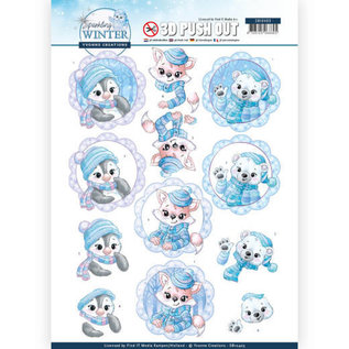 Yvonne Creations Foglio A4, pushout 3D, inverno