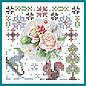 JEANINES ART  Handwerkset, KartenSET, Sparkles Set 45, Jeanine's Art, The Colors of Winter, Pink Winter Flowers