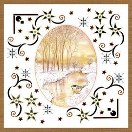 JEANINES ART  Dot and Do håndværk sæt, KartenSET, håndværk sæt, KartenSET, Jeanine's Art, Yellow Forest
