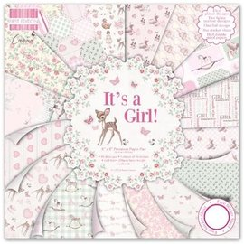 "Karten und Scrapbooking Papier, Papier blöcke Card and scrapbook paper, 20.5 x20.5 cm ""It's a Girl"""