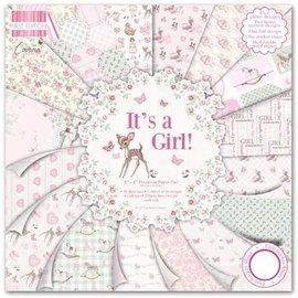 """Karten und Scrapbooking Papier, Papier blöcke Papel para tarjetas y álbumes de recortes, 20,5 x 20,5 cm """"It's a Girl"""""""