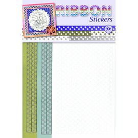 JEJE product pack of 3 ribbon stickers, stars