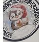 Joy!Crafts / Jeanine´s Art, Hobby Solutions Dies /  Stanzschablonen, Cirkel mit Eiskristalle, Format: ca. 13 x 13 cm.