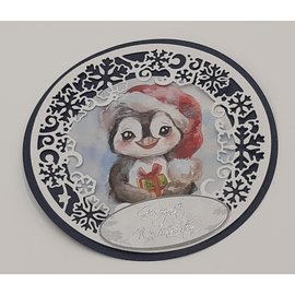Joy!Crafts / Jeanine´s Art, Hobby Solutions Dies /  Stanseskabeloner, cirkler med iskrystaller, størrelse: ca. 13 x 13 cm.
