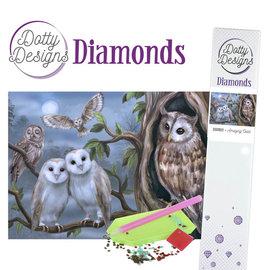 BASTELSETS / CRAFT KITS Diamant håndverkssett, ugler