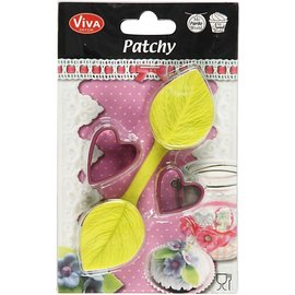 VIVA DEKOR (MY PAPERWORLD) Silicon shape, heart leaf with punch 4.5 x 3.5 cm