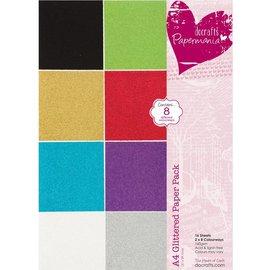 Karten und Scrapbooking Papier, Papier blöcke A4-papir pad Glitter