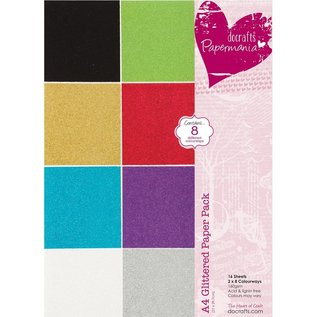 Karten und Scrapbooking Papier, Papier blöcke A4-papier pad Glitter