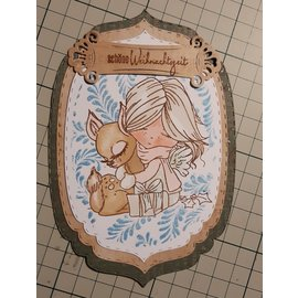 Polkadoodles  Motif de timbres, bannière, ange