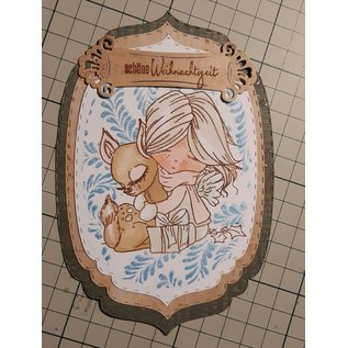 Polkadoodles  Stempelmotief, banner, engel