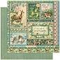GRAPHIC 45 Woodland Collection, designerblokk 30,5 x 30,5 cm + klistremerke