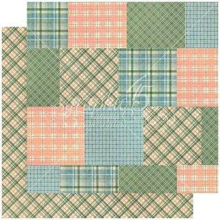 GRAPHIC 45 Collezione Woodland, blocco di design 30,5 x 30,5 cm + foglio di adesivi