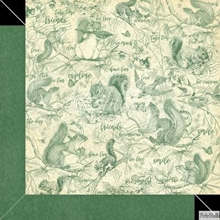 GRAPHIC 45 Woodland Collection, designerblok 30,5 x 30,5 cm + klistermærke