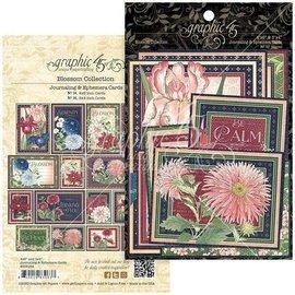 GRAPHIC 45 Grafikk 45, Blossom Collection, 32 Ephemera & Journaling Cards