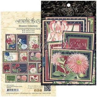 GRAPHIC 45 Grafik 45, Blossom Collection, Ephemera & Journaling Cards