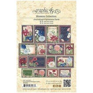 GRAPHIC 45 Grafikk 45, Blossom Collection, Ephemera & Journaling Cards
