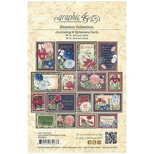 GRAPHIC 45 Graphic 45, Blossom Collection, Ephemera & Journaling Cards